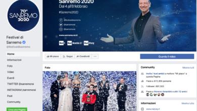 Sanremo su Facebook