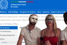 Photo of Contattate l'Ambasciata italiana a Bruxelles solo se siete scambisti o erotomani